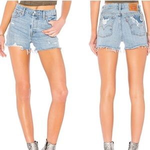 Levi's distressed wedgie short